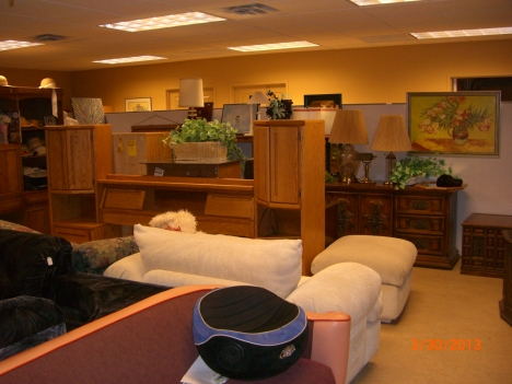 Our warehouse sales have lots of furniture to offer.